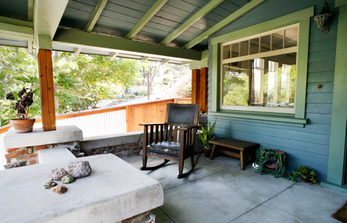 Black Star - Echo Park porch with reclaimed brick