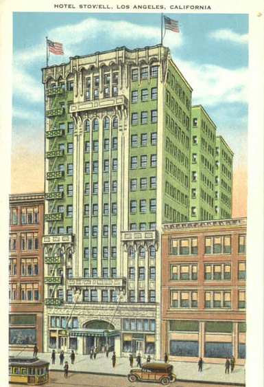 Hotel Stowell - postcard
